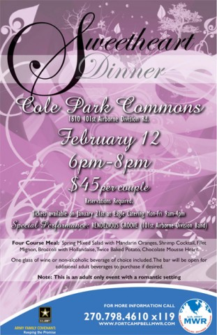 Sweetheart Dinner at Cole Park Commons