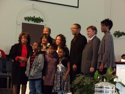 "Pastor Robert Harris, Treva Gordon, Kevin Kennedy, Sharon Edwards, Kelvin Braxton, and  Richard ""Reason"" Garrett"