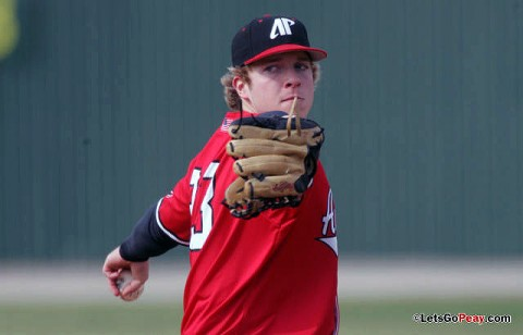 Freshman Alex Belew started in the Govs 11-3 loss at No. 28 Mississippi, Wednesday. (Keith Dorris/Dorris Photography)