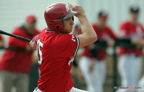 Reed Harper has two hits and scored the Govs lone run in a Saturday loss at Arkansas State. (Mateen Sidiq/Austin Peay)