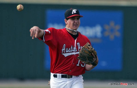 Shortstop Reed Harper had a RBI single in the Govs loss at Illinois State, Friday. (Keith Dorris/Dorris Photography)