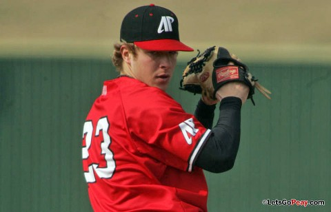 Redshirt freshman Alex Belew will take the mound in the Govs Tuesday contest at Western Kentucky. (Keith Dorris/Dorris Photography)
