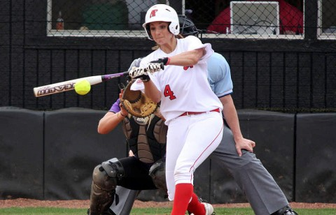 Senior Tiffany Smith's first-inning triple gave the Lady Govs a 2-0 lead. (Keith Dorris/Dorris Photography)