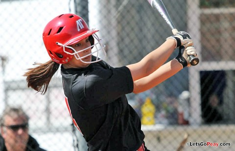 Freshman Lauren de Castro leads the Lady Govs with a .303 batting average. (Austin Peay Sports Information)