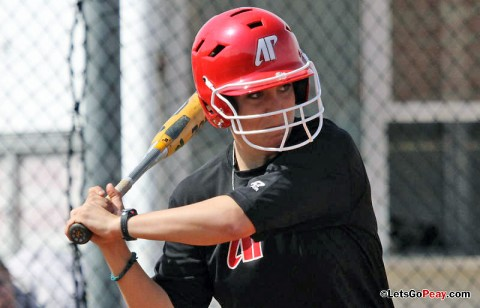 Junior Amy Mills drove in tying and winning runs versus Tennessee-Martin. (Austin Peay Sports Information)