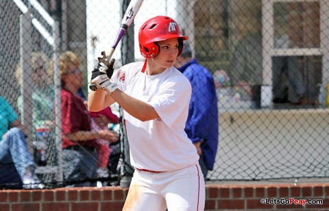 Senior Tiffany Smith had two hits and a RBI versus Eastern Michigan. (Austin Peay Sports Information)