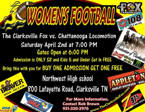 Clarksville Fox season opener vs Chattanooga Locomotion