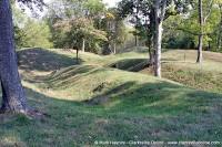 Fort Defiance earthen walls.