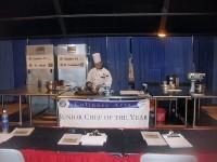 Spc. Orlando Nixon during Chef cook off.