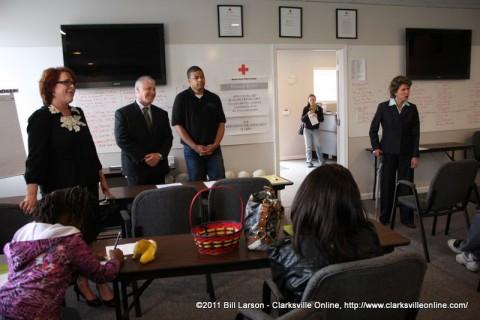 Julie Campos, Pat Hickey, Nick Steward, and Mayor Kim McMillan