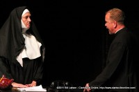 Sister Aloysius confronting Father Flynn