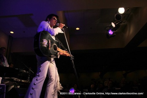 Elvis performing at the Legends of Clarksvegas