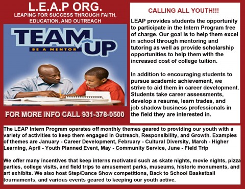 LEAP Accepting Students for Intern Program