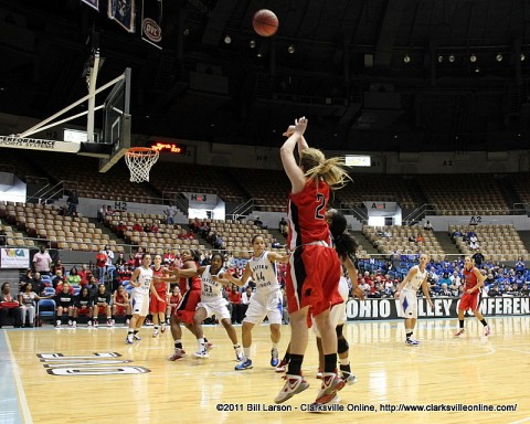 The Lady Govs defeated Eastern Illinois 78-72 Thursday night in the Ohio Valley Conference Women's Basketball Championship's quarterfinal round.