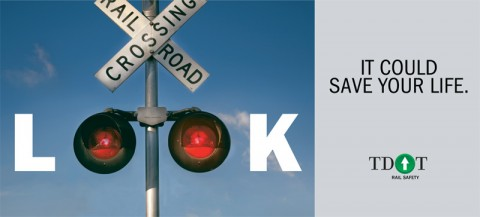 Billboards for new Railroad Crossing Safety Campaign.