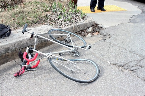 A man riding a bicycle was stuck by a hit and run driver in Clarksville, TN.