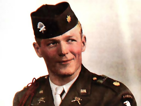 Major Dick Winters, United States Army Veteran. (AP Photo/Courtesy of  Sgt. Maj. Herman W. Clemens, Ret.)