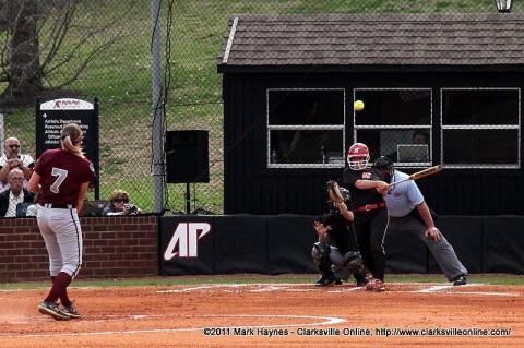 APSU Women's Softball at Lady Govs Field, Clarksville TN.