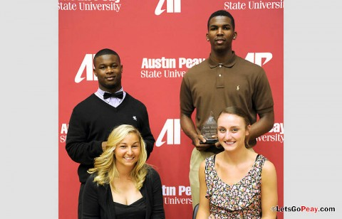 Back row (L-R) Terrence Holt and Josh Terry, Front row (L-R) Chelsea Harris and Nikki Doyle. (Austin Peay Sports Information)