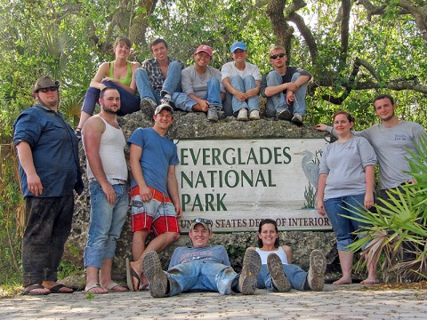 The Everglades National Park in southern Florida was one of several stops Austin Peay State University students and staff made as part of the recent Alternative Spring Break Trip, which provides various service activities for participants. (Photo provided by Alexandra Howard, APSU Student Life and Leadership)