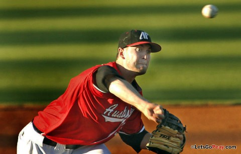 Austin Peay starter Andy Cox could not work around a defensive miscue in the fifth and the Govs loss to Western Kentucky, Tuesday. (Robert Smith/The Leaf-Chronicle)