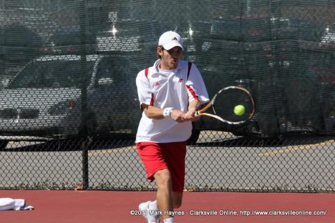 APSU Men's Tennis, Clarksville TN.