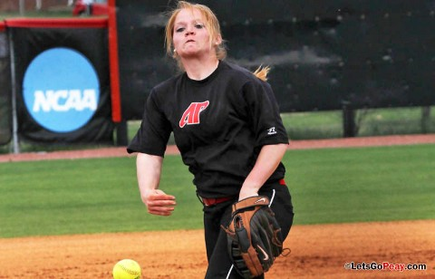 Junior Ashley Bolda limited SEMO to five hits in 2-1 victory. (Austin Peay Sports Information)