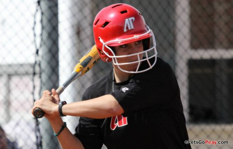 Junior Amy Mills hit a grand Slam to highlight a five-run fifth inning for the Lady Govs in win over Skyhawks. (Austin Peay Sports Information)