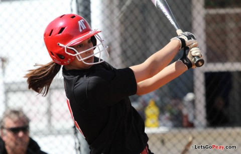 Freshman Lauren de Castro had a two-run triple in Sunday's loss to SIUE. (Austin Peay Sports Information)