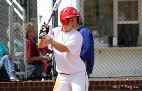 Senior Tiffany Smith hit walk-off home run in bottom of eight inning to lift Lady Govs to a split of its doubleheader against OVC leading Eastern Illinois. (Austin Peay Sports Information)