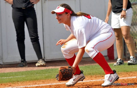 Senior Tiffany Smith had two hits in Saturday's doubleheader against Tennessee Tech. (Austin Peay Sports Information)