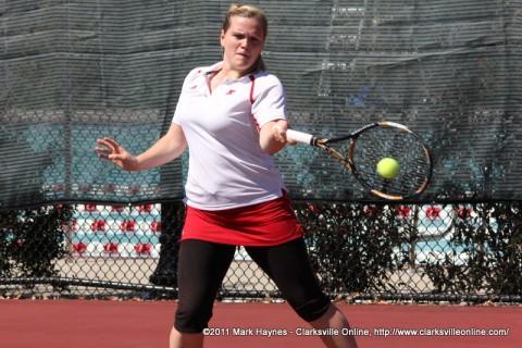 APSU Women's Tennis, Clarksville TN.