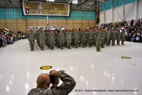 247 Soldiers with the 2nd Brigade Combat Team, 101st Airborne Division returned home in time for Easter Sunday.