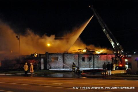 Charlie's Steak House on fire in Oak Grove, Kentucky
