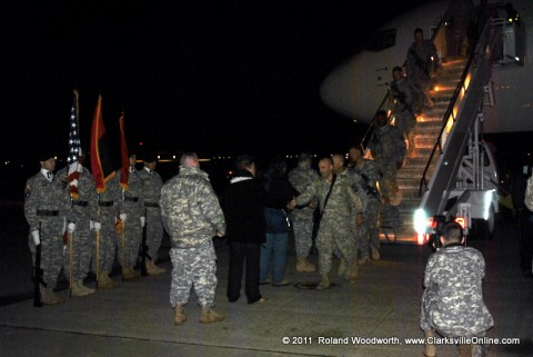 310 Soldiers returned to Fort Campbell KY Thursday morning around 5:15am.