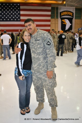SPC Nathan Crume and his wife Dena Rand-Crume