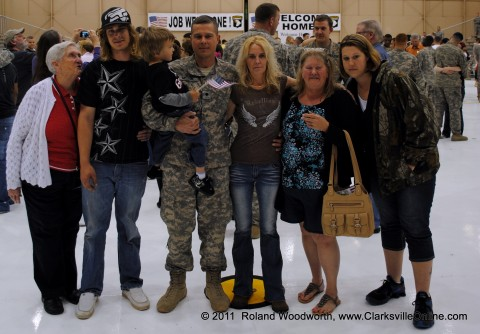 SPC Jesse Melton and family
