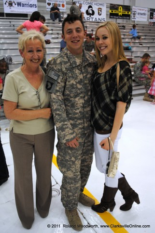 FPC Kyle Boucher with his mother Karen Mitchell and girl friend Katie Maloney