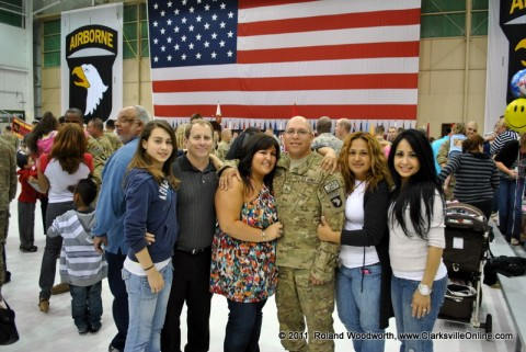 SGT Leanie Canfield with his wife Macey and family