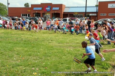 Over 400 kids attended Hilltop Market's 16th Annual Easter Egg Hunt.