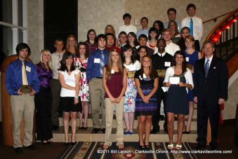 The 2011 Heritage Bank Scholarship recipients with Heritage Bank President/CEO John Peck (right)