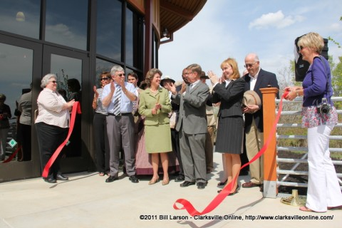 The official ribbon cutting on Thursday