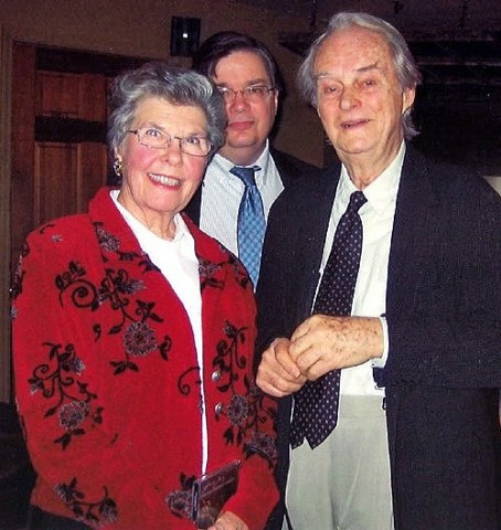 Lena Orgain, APSU Professor of Music Jeffrey Wood and the late American composer Lee Hoiby.