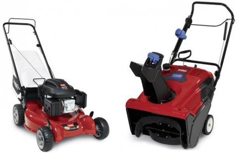"Toro 20"" Recycler Mower and Toro Power Clear Snowblower."