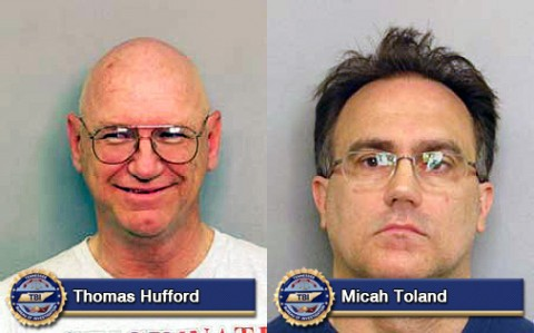 Thomas Hufford and Micah Toland were arrested by TBI agents for Exploting Minors and promoting prostitution.