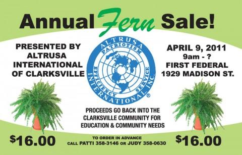 Altrusa International of Clarksville Annual Fern Sale