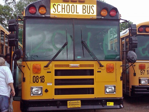 School Buses Vandalized