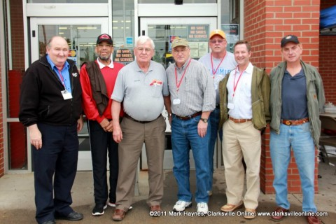 "The judges (L to R): Robert ""Duck"" Davidson, Chuck Edwards, Wayne Hall, Dalton Harrison, Robert Cruise, Tim Barnes, and David ""Red"" Hembree."