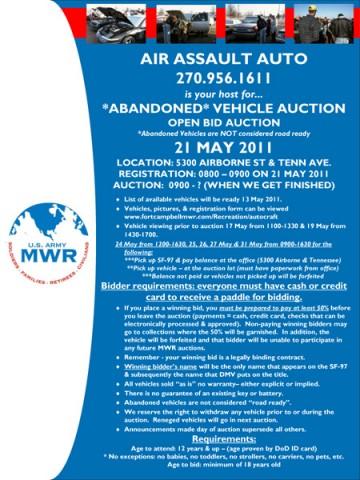 Air Assault Auto Abandoned Vehicle Auction