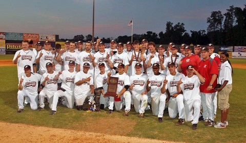 Austin Peay won its fourth OVC Tournament Championship with a 7-3 victory over Jacksonville State on Saturday. (Photo Courtesy: Don McQuistion)